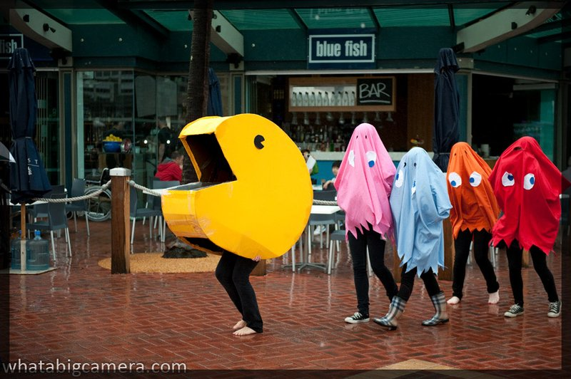 pac man and ghosts